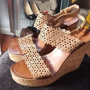 🌟TORY BURCH Gently Worn Wedge Sandals